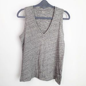 MADEWELL Gray V-Neck Tank Top Size S